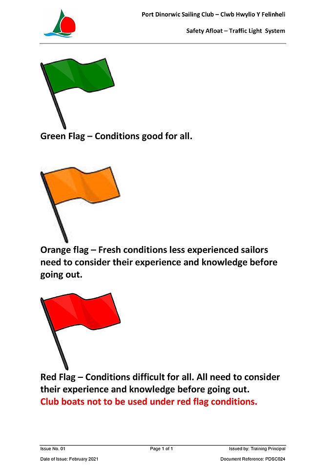 PDSC Traffic light Flag system  02 2021-