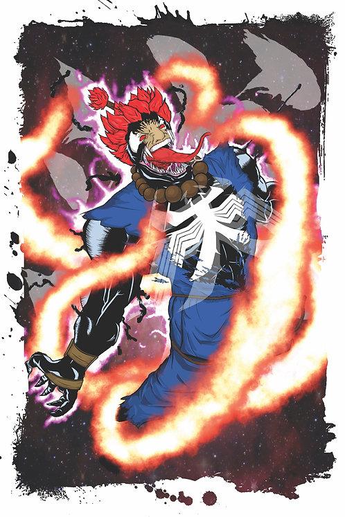 Venom Akuma mashup print