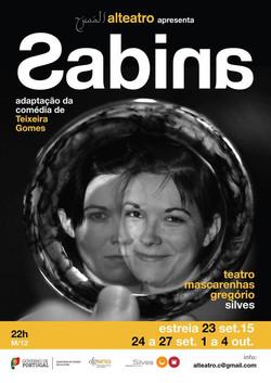 Cartaz da peça Sabina