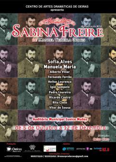 Cartaz da encenação de Sabina Freire (2010)