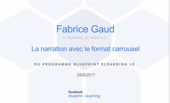 Facebook - La narration avec un format c