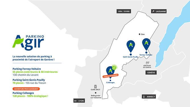 Localisation parking aéroport de Genève