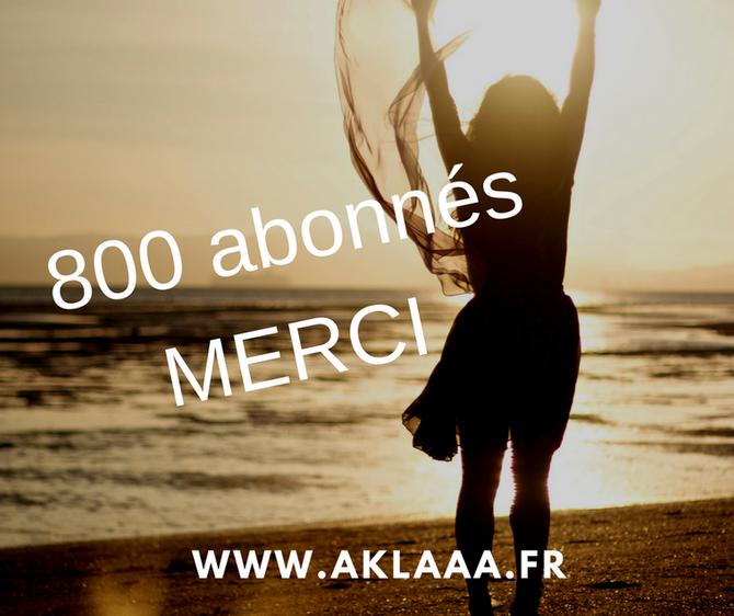800 abonnés pour Aklaaa sur Facebook