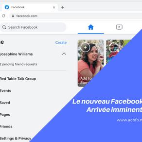 Découvrez le nouveau facebook
