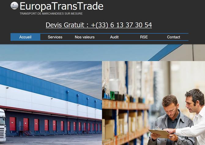 Europatranstrade : Site internet et référencement
