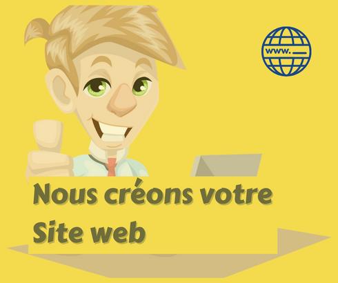 Nous créons votre site web