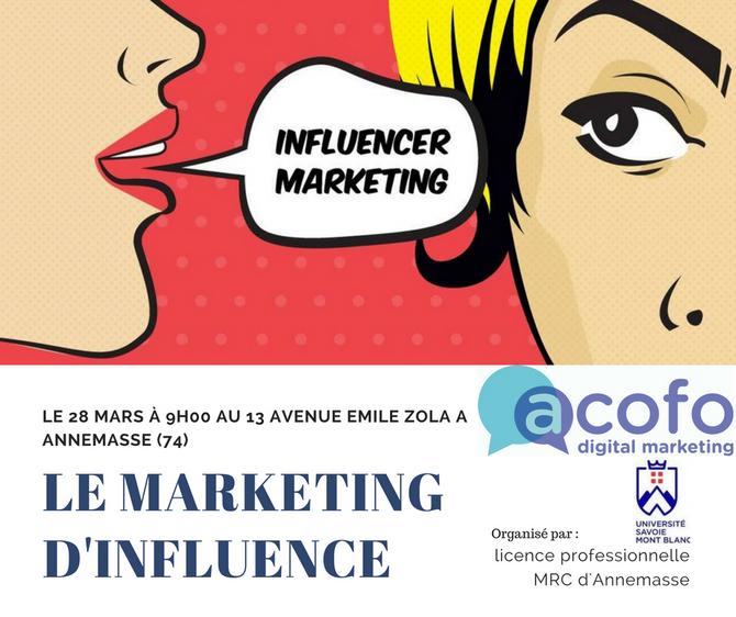 """""""Marketing d'influence"""" Conférence partenaire."""