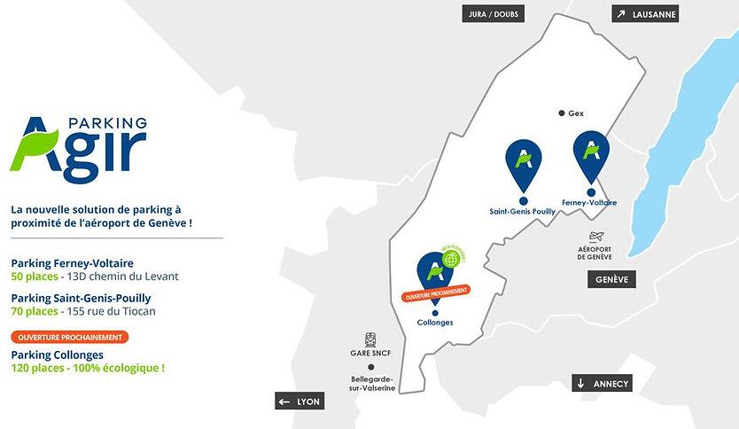 Carte parking aéroport de Genève