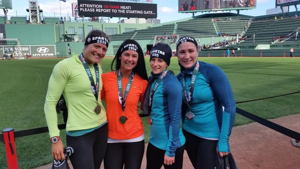 Chloe Fellman (orange shirt), Integrated Fitness of Dover Personal Trainer at the 2014 Spartan race