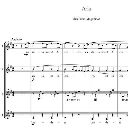 テレマンのアリアAria.Teleman./Aria from Magnificat4声部