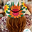 Thumbnail: Orange Sunflower Mexican Hand Painted Hat