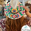 Thumbnail: Multi-Colored Mexican Hand Painted Hat (Size Medium)