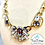 Thumbnail: Crystal Gold Chain Necklace