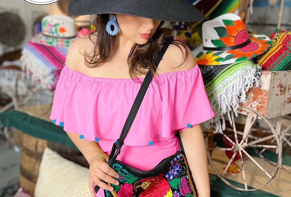 Pink Pom Dress (Size M/L)