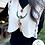 Thumbnail: Collar Gem Drop Tassel Necklace