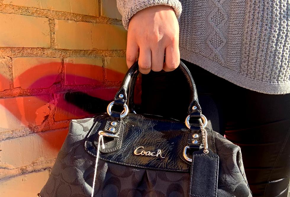 Coach Ashley Convertible Signature C Black Handbag