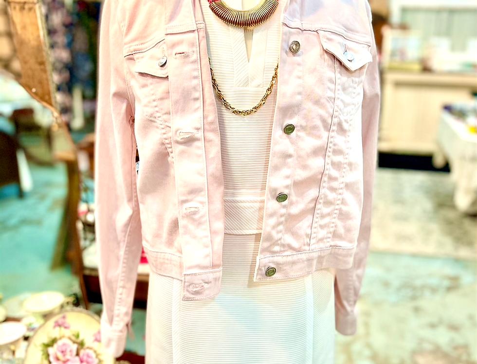 Blossom Light Pink Denim Jacket
