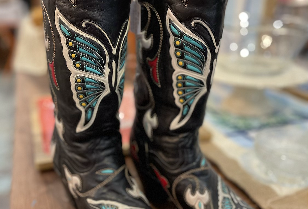 Butterfly Western Boots (Size 6.5)