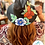 Thumbnail: Black Mexican Hand Painted Hat (Size Medium)