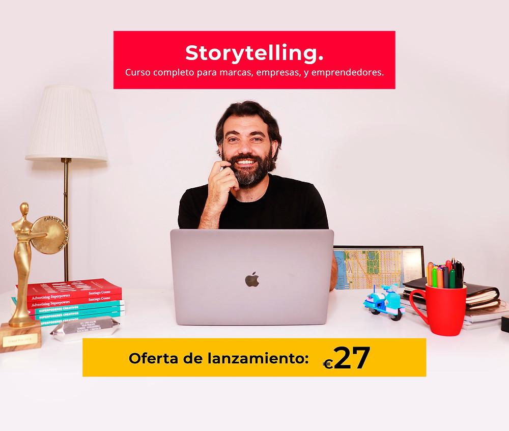 Oferta lanzamiento Curso de Storytelling Online