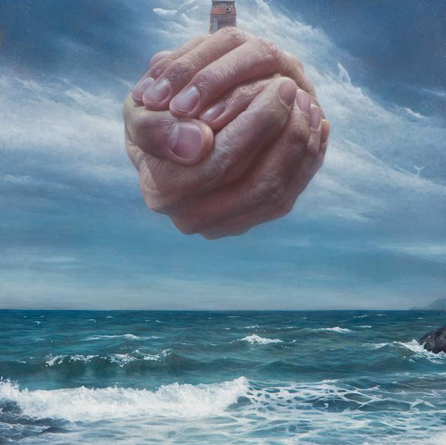 老師作品-致敬馬格利特-家  72.5x53cm    (Oil on canvas 20