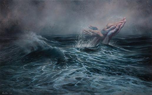 破浪者     Breaking the Waves   116.5x72.5c