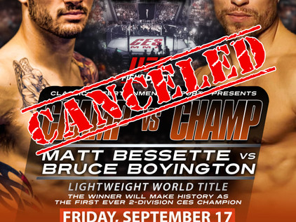 CES 64: Bessette vs. Boyington is Officially OFF