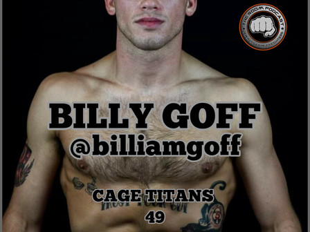 Billy Goff is Confident in a Win Over Lally on July 10th at Cage Titans