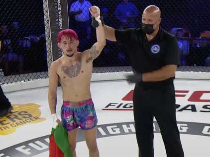 Moutinho impresses with 3rd rnd submission at CFFC 96