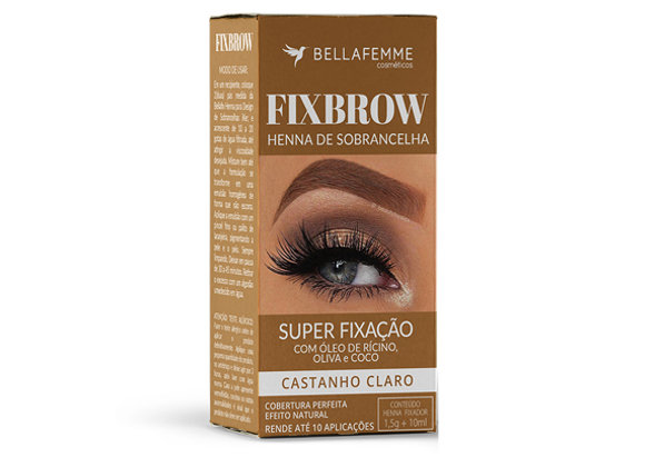 FixBrow Castanho Claro – Henna de Sobrancelha