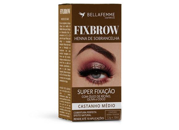 FixBrow Castanho Médio – Henna de Sobrancelha