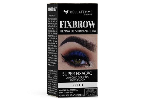 FixBrow Preto – Henna de Sobrancelha