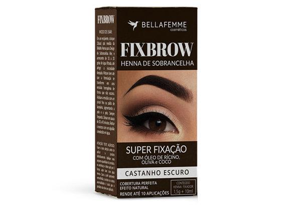 FixBrow Castanho Escuro – Henna de Sobrancelha