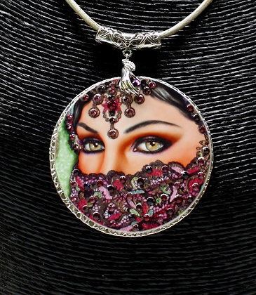 Afya Medallion with Swarovski Crystals