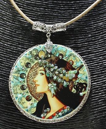 Blue Zodiac with Swarovski stones