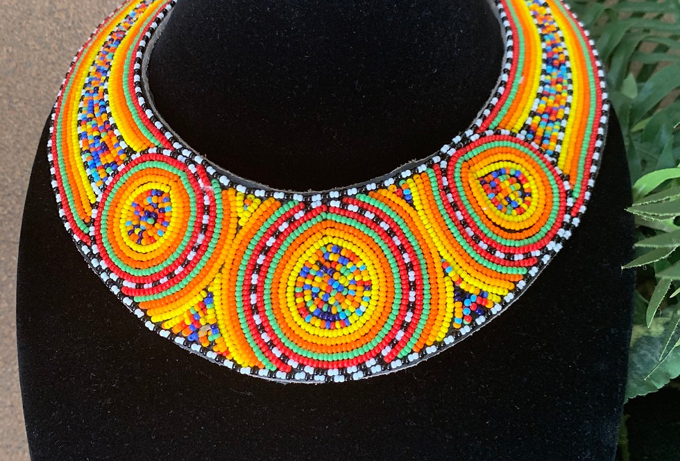 Shangazi Beaded Collar Necklace