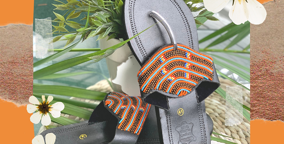 Maasai Sandal with Beaded Detail - Mrembo