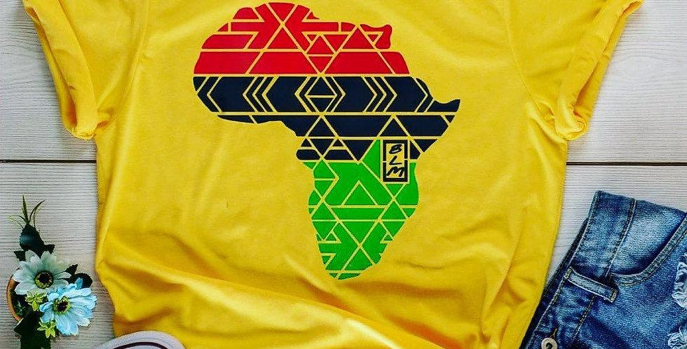 Bagwasi Africa Map Tshirt- BLM