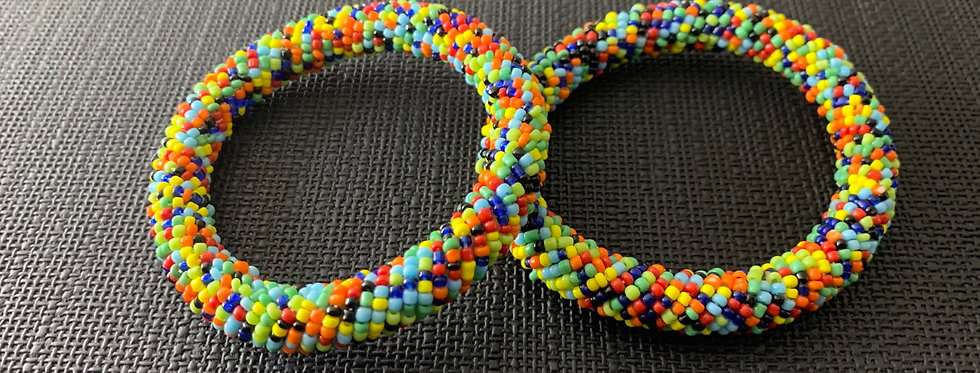 Handmade Maasai Bracelet-Skittles