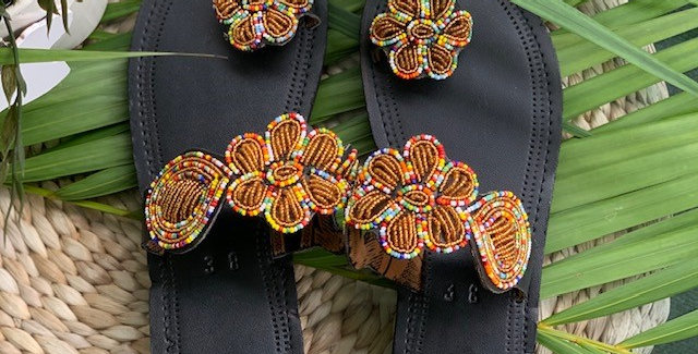 Maasai Sandal with Beaded Detail - Maua