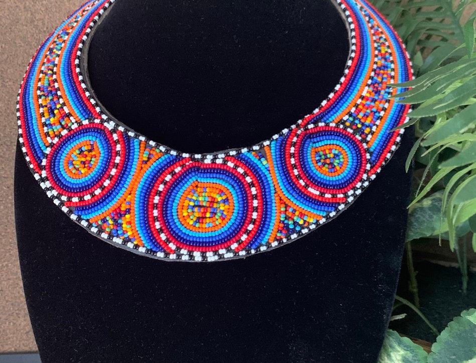 Shangazi Beaded Collar Necklace