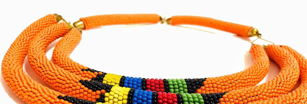 Handmade Maasai Necklace- Triple