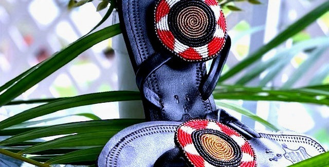 Maasai Sandal with Beaded Detail - Nyota