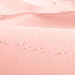 ピンクの砂