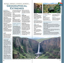 South African Geographical Extremes