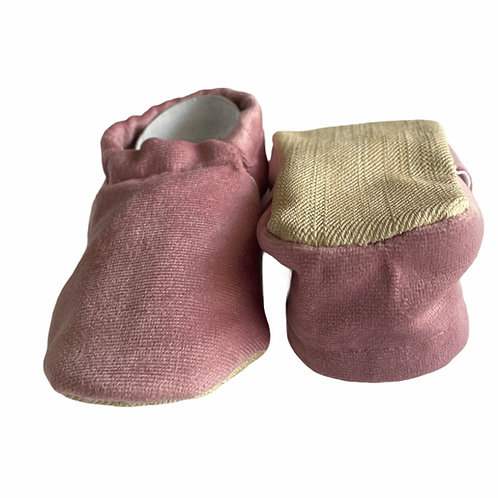 Faux Soft Moccasins Slippers Pink