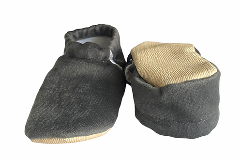 Faux Soft Moccasins Slippers Grey