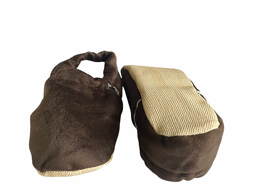 Faux Soft Moccasins Slippers Brown