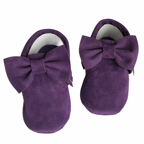 حذاء موكاسين بجلد صناعي بنفسجي