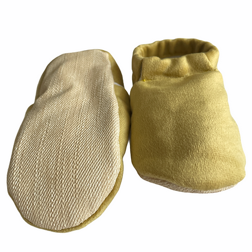 Faux Soft Moccasins Slippers Mustard